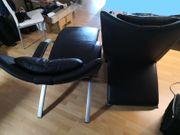 2 Designer Relaxsessel -Relaxliege - Echtleder -