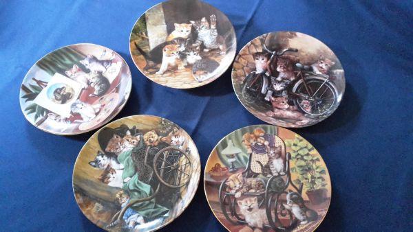5 Porzellan Wandteller » Flohmärkte, Flohmarktartikel