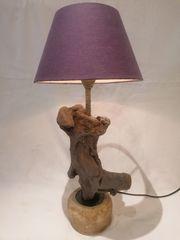 Treibholzlampe Tischlampe Nachttischlampe 3 Fach
