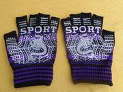 Sport-Handschuhe Fingerlos Skopion-Muster Gr S-M
