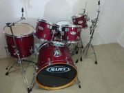 Mapex Schlagzeug kirsch-rot wie neu