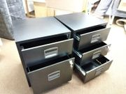 2x Rollcontainers aus Metall schwarz