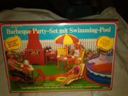 Barbeque Party-Set mit Swimming-Pool