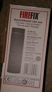 Kamin Rauchrohr dunkelgrau150mm Durchmesser2mm WandstärkeNoch