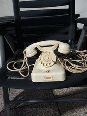 W 48 Elfenbein altes Posttelefon