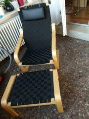 Verkaufe Ikea Relaxsessel mit Hocker