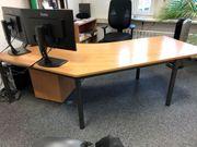 Büromöbel Schreibtisch mit Rollcontainer hochwertig