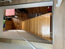 Werkzeuge, Zubehör - Holztreppe Kernbuche versiegelt Geschosshöhe 3