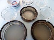 NEU Aschenbecher glas 8tlg Glasaschenbecher