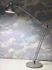 Ikea Antifoni Schreibtischlampe silber matt