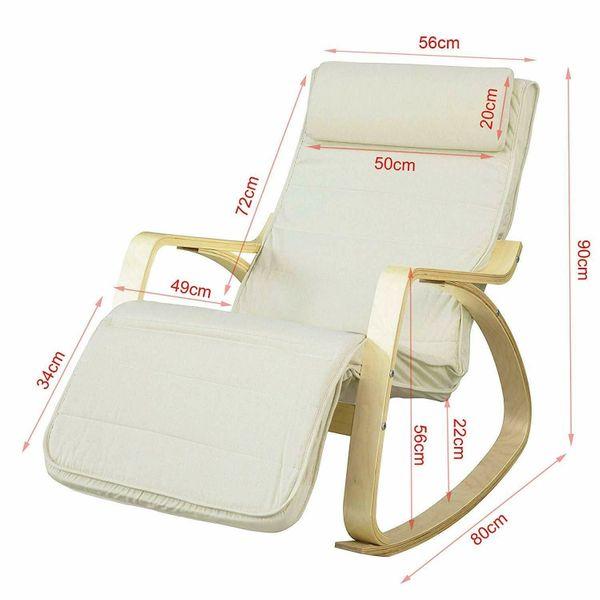 Schaukelstuhl verstellbares Fußteil Schwingsessel Relaxsessel