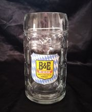 B E Bierglas Glaskrug mit