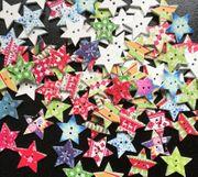 Sterne Knopf Knöpfe - Weihnachten - Schneeflocke