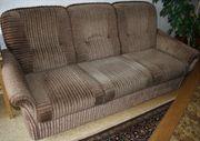 Sofa und Sessel braun