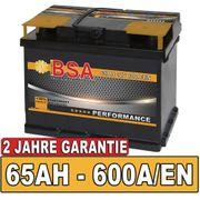 Autobatterie 65Ah 600A EN 30
