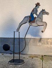 Deko Pferd mit Reiter