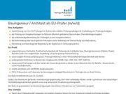 Bauingenieur Architekt als EU-Prüfer m