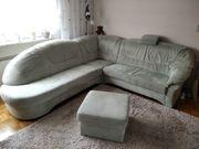 Wohnlandschaft Sofa Couch Mikrovelour in
