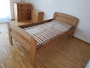 Komfortbett aus Massivholz wie neu