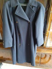 Damen Wollmantel in blau Grösse