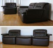Leder-Sofa cor de sede Ära