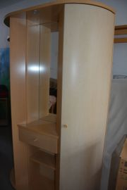 Garderobe-Schuhschrank aus Ahorn Birke natur
