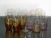 18 x kleine Saftgläser Glas