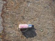 kleines Fläschchen mit rosanen Hufeisen