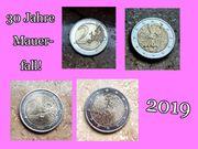 2 Münzen 30 Jahre Mauerfall