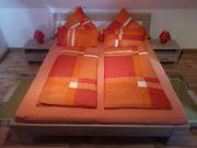 5 Sets orange Microfaser-Bettwäsche 3-teilig