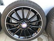 Verkaufe 4-AMG Alufelgen mit Sommerbereifung