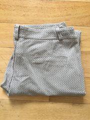 Anzughose beige grau Muster Stoffhose