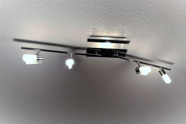 Moderne Kronleuchter Halogen ~ Moderne helle chrom glas halogen decken lampe strahler leuchte