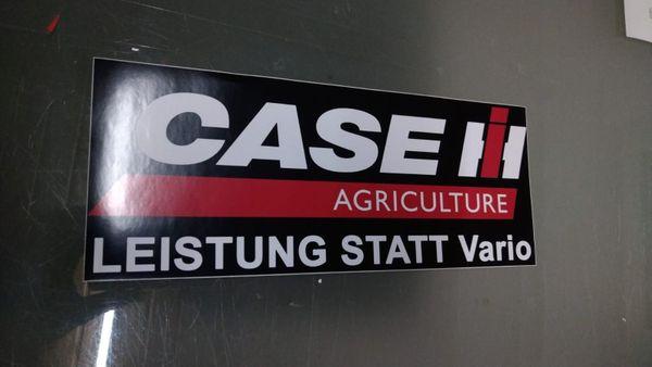 Aufkleber Leistung statt Vario Case