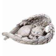 Tiergrab Figur schlafende Katze in