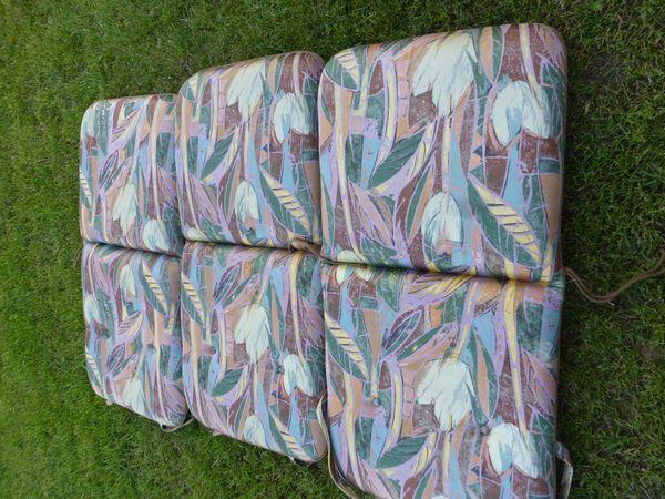 3 Auflagen für Gartenstühle hochwertige