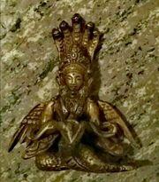 Feingearbeitete Skulptur Lakshmi Göttin aus