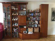 Wohnzimmer Regale mit beleuchtete Vitrine
