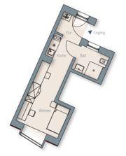 1-Zimmer Studenten-Appartement in Erlangen zu