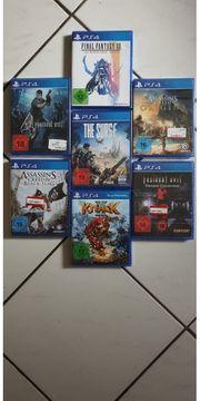 Original verpackte PS4 Spiele