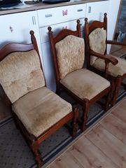 8 Stühle Eiche massiv