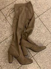 Overknee ganz weiches Leder - Schuhe