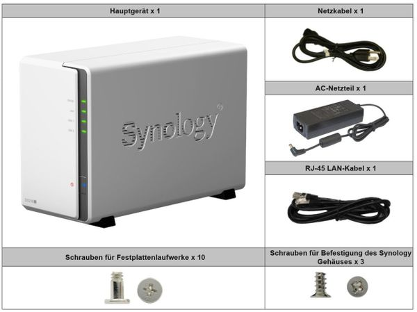 Synology DS216J 2 Bay NAS