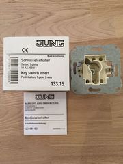 Jung 133 15 Schlüsselschalter Taster