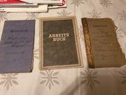 Militärpapiere 1914-1918 Militärpaß Führerschein Arbeitsbuch