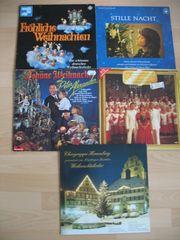 5 alte Schallplatten Weihnachtsmusik Lieder