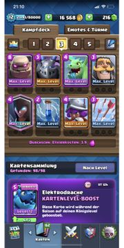 Clash Royale lv12 maxed deck