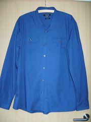 SMOG Herrenhemd langarm blau Gr