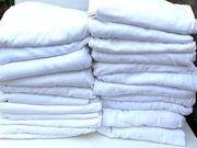 21 St Spannleintücher weiß Baumwolle