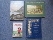 4 Liederbücher Notenbücher